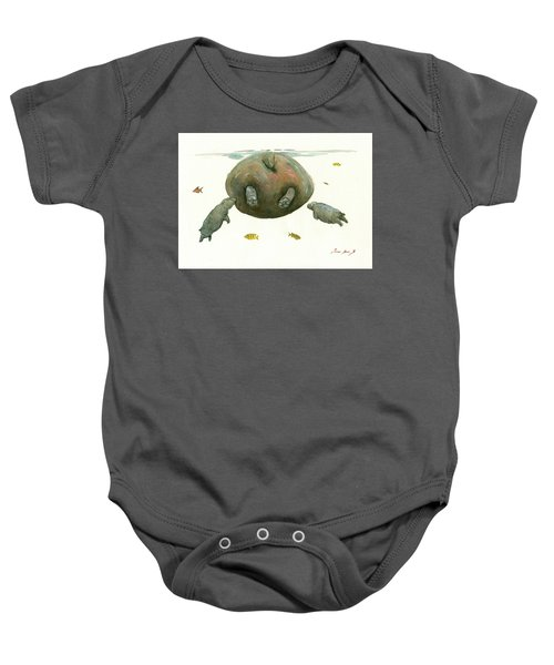 Hippo Mom With Baby Baby Onesie