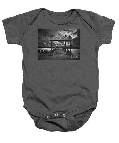 Historic Anna Maria City Pier 9177436 Baby Onesie