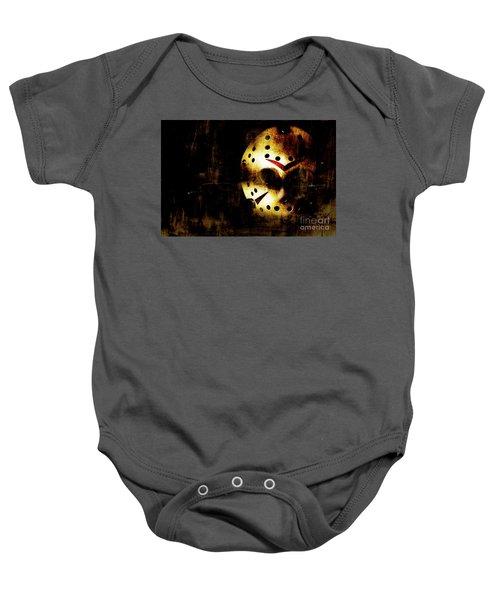 Hockey Mask Horror Baby Onesie