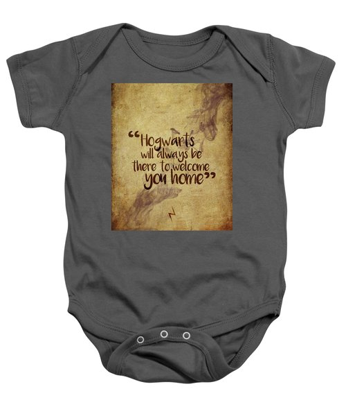 Hogwarts Is Home Baby Onesie