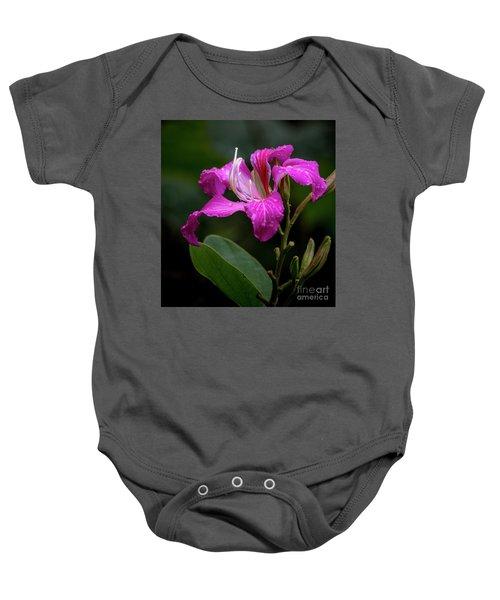 Hong Kong Orchid Baby Onesie