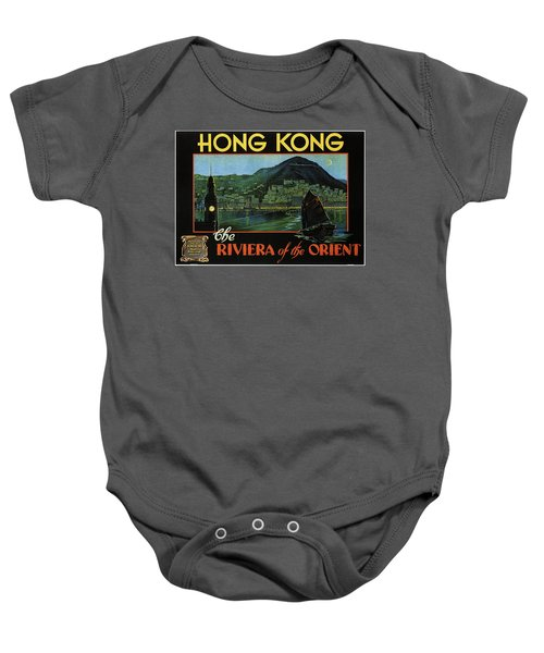 Hong Kong - The Riviera Of The Orient - Vintage Travel Poster Baby Onesie