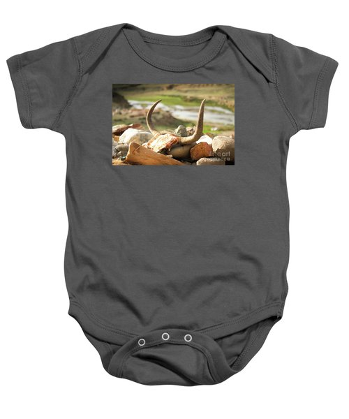 Horn And Valley Tibet Yantra.lv Baby Onesie