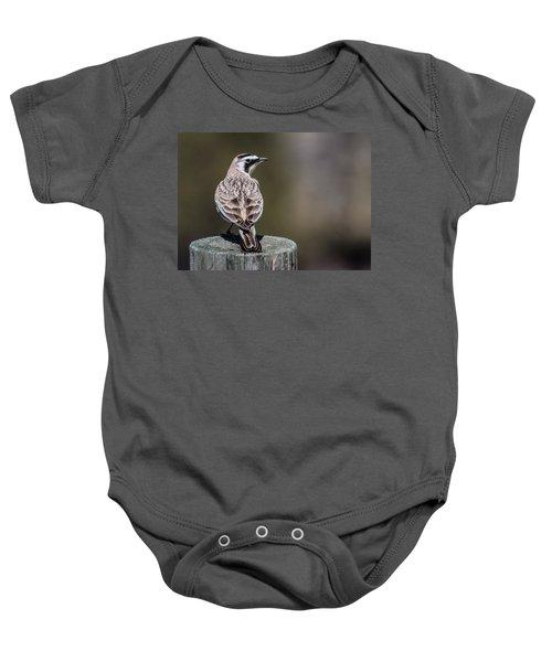 Horned Lark Baby Onesie