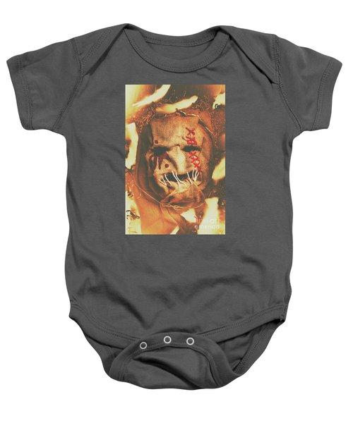Horror Scarecrow Portrait Baby Onesie