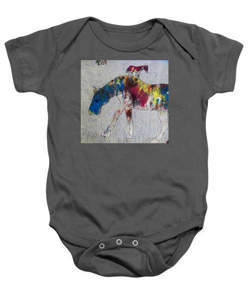 Horse Of A Different Color Baby Onesie