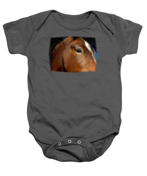 Horse Portrait Close Up Baby Onesie