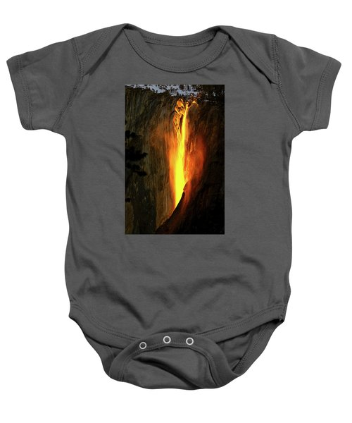 Horse Tail Fall Aglow Baby Onesie
