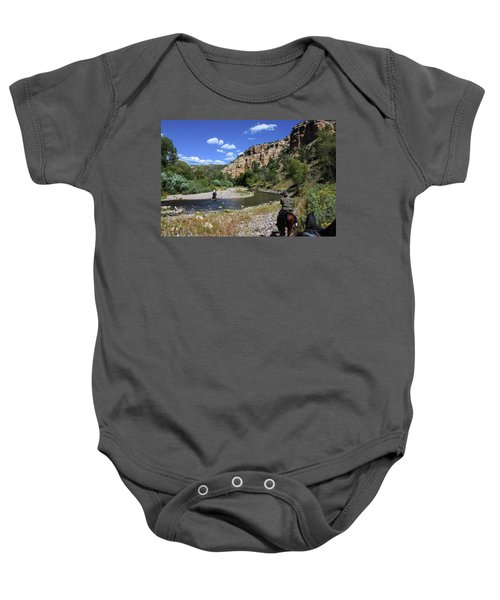 Horseback In The Gila Wilderness Baby Onesie
