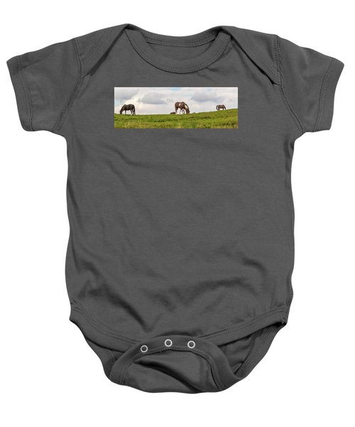Horses And Clouds Baby Onesie