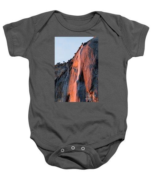 Baby Onesie featuring the photograph Horsetail Falls 2 by Vincent Bonafede