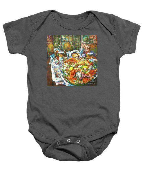 Hot Boiled Crabs Baby Onesie