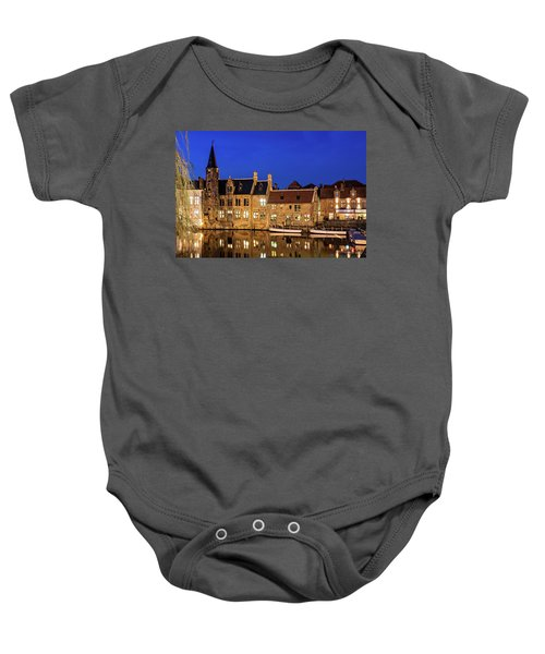 Houses By A Canal - Bruges, Belgium Baby Onesie