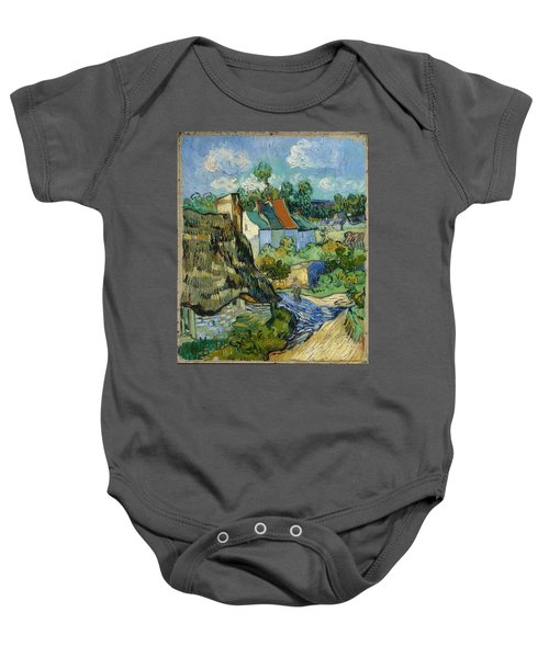 Baby Onesie featuring the painting Houses In Auvers by Van Gogh