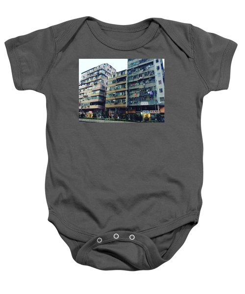 Houses Of Kowloon Baby Onesie by Florian Wentsch