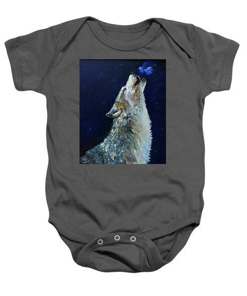 Howling Wolf Baby Onesie