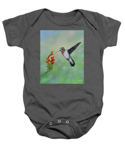 Hummingbird Beauty Baby Onesie