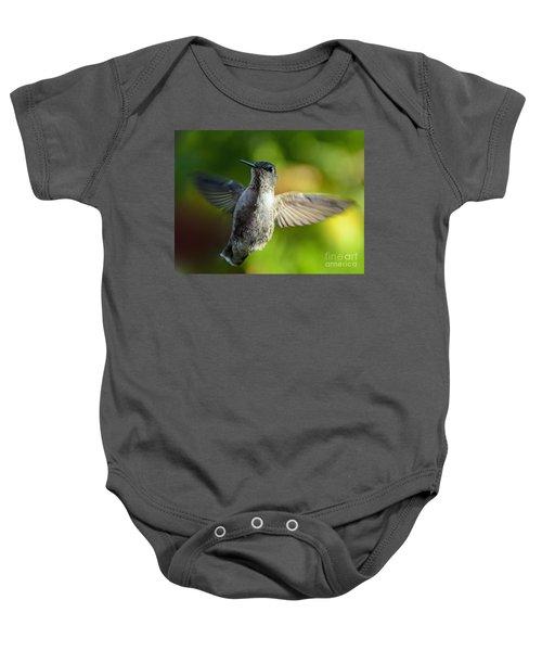 Hummingbird In Flight Baby Onesie