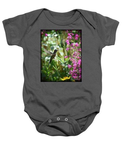 Hummingbird On Perry's Penstemon Baby Onesie