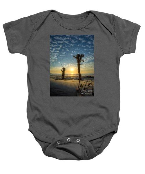 Hunting Island State Park Beach Sunrise Baby Onesie