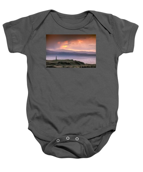 Hutcheson's Monument On The Isle Of Kerrera At Sunset Baby Onesie