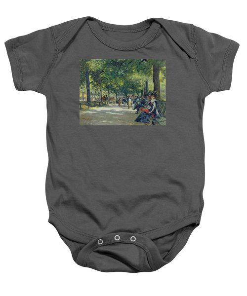 Hyde Park - London  Baby Onesie by Count Girolamo Pieri Nerli