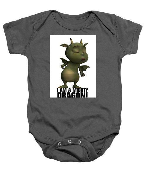 I Am A Mighty Dragon Baby Onesie