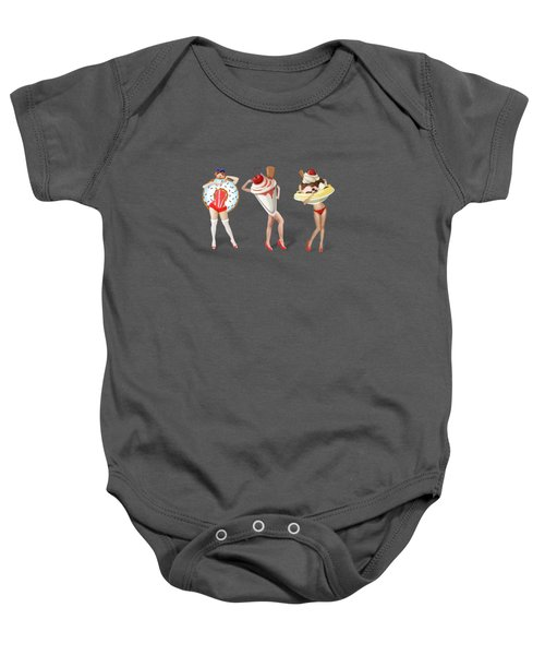 Ice Cream Woman 4 Baby Onesie