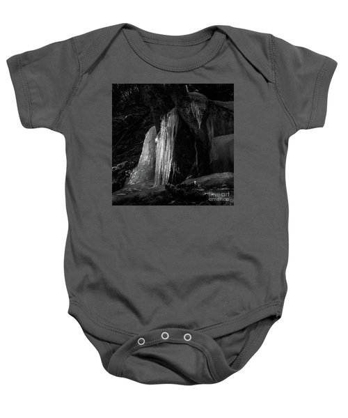 Icicle Of The Forest Baby Onesie by Tatsuya Atarashi