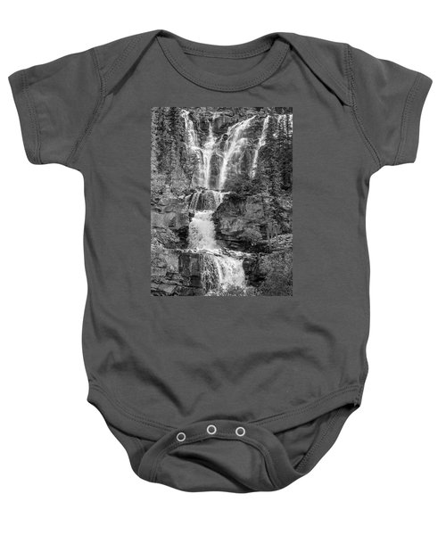 Icefields Waterfall Baby Onesie