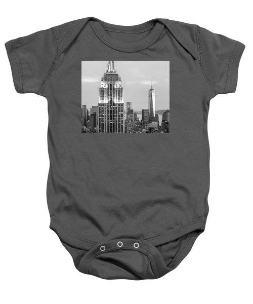Iconic Skyscrapers Baby Onesie by Az Jackson