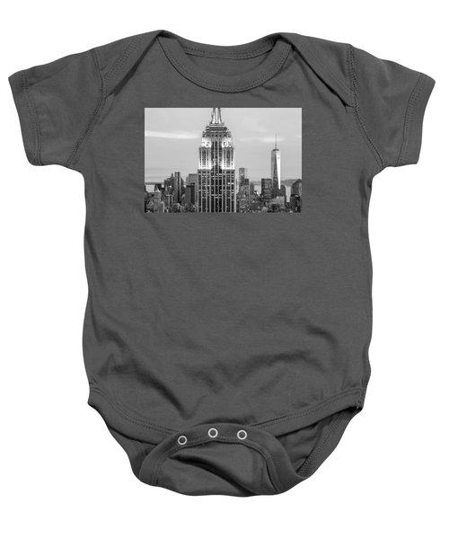 Iconic Skyscrapers Baby Onesie