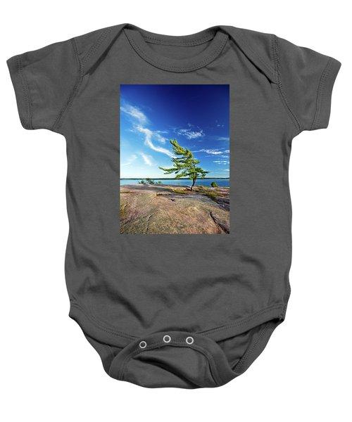 Iconic Windswept Pine Baby Onesie