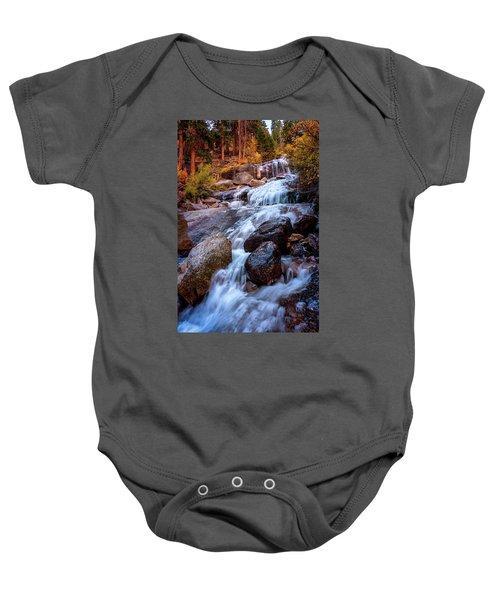 Icy Cascade Waterfalls Baby Onesie