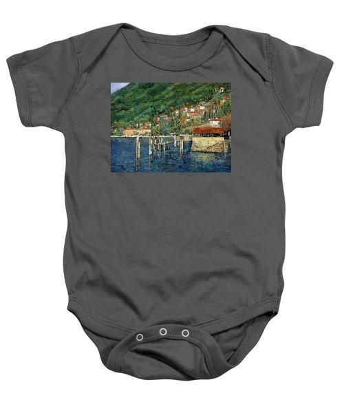 il porto di Bellano Baby Onesie