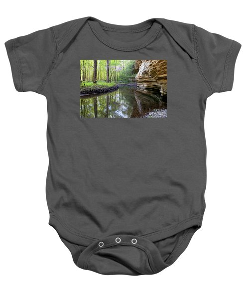 Illinois Canyon In Spring Starved Rock State Park Baby Onesie