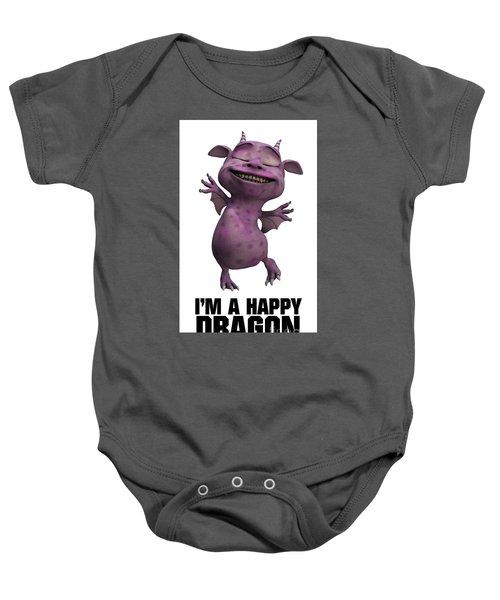 I'm A Happy Dragon Baby Onesie by Esoterica Art Agency