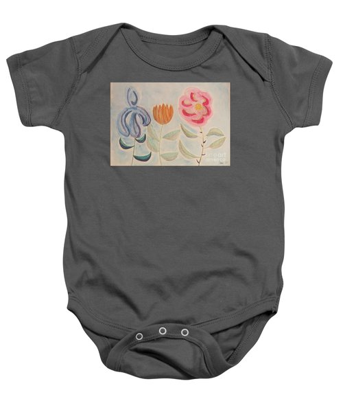 Imagined Flowers Two Baby Onesie by Rod Ismay