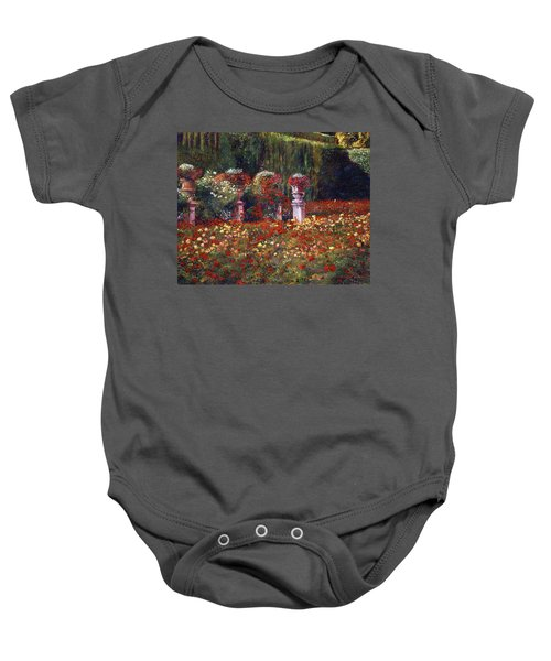 Impressions Of An English Rose Garden Baby Onesie