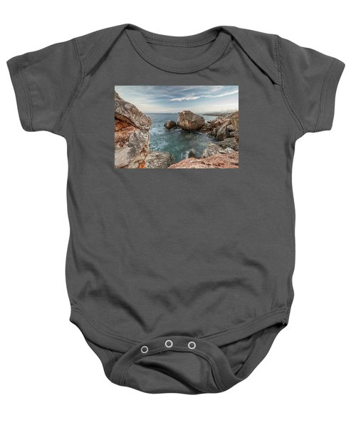 In The Middle Of The Rocks Baby Onesie