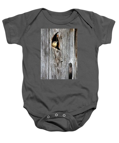 In The Outhouse Shed Baby Onesie