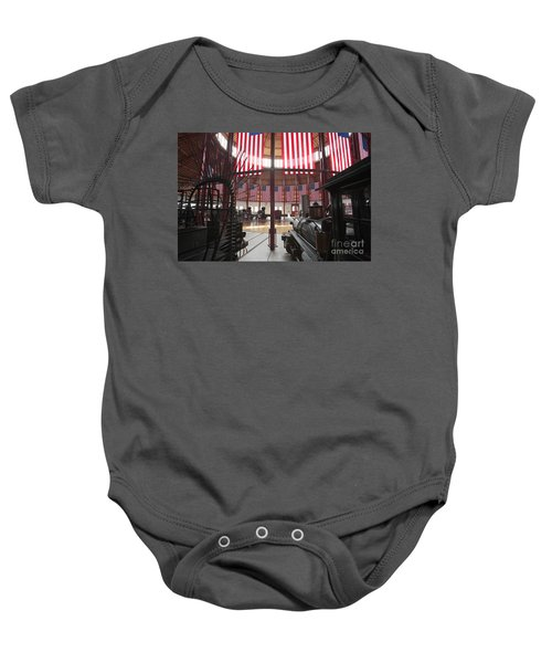 In The Roundhouse At The B And O Railroad Museum In Baltimore Baby Onesie