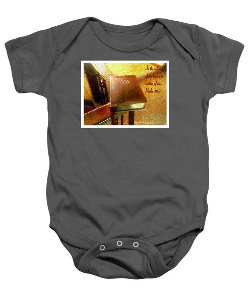 In The Volume Of The Book Baby Onesie
