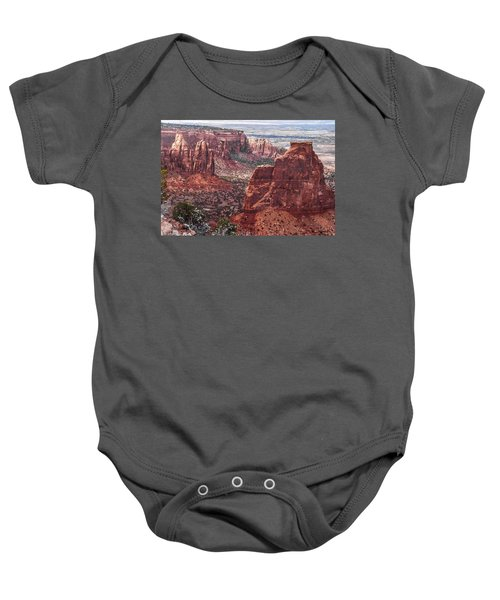 Independence Monument At Colorado National Monument Baby Onesie
