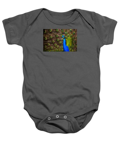 Baby Onesie featuring the photograph India Blue by Rikk Flohr