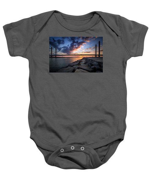 Indian River Inlet And Bay Sunset Baby Onesie