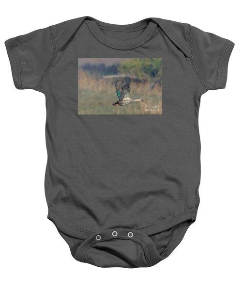 Indian Spot-billed Duck 03 Baby Onesie