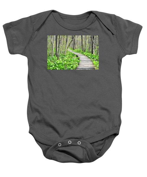 Indiana Dunes Great Green Marsh Boardwalk Baby Onesie