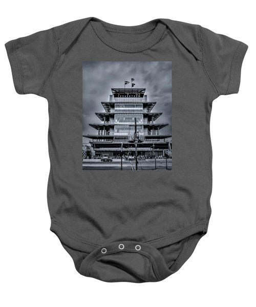 Indy 500 Pagoda - Black And White Baby Onesie