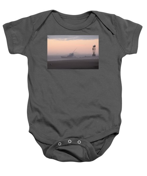 Into The Pink Fog Baby Onesie